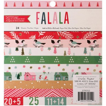 Fa La La,christmas,paper,scrapbook,cardmaking,snailmail,letter,projectlife,album,tag