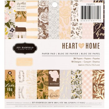 Jen Hadfield Heart Of Home,paper,scrapbook,diy,gift,gold,planner,snailmail