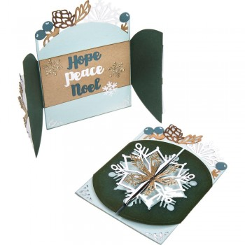 Snowflake Card, Flip And Fold,christmas,seasonal,craft,papercraft,sizzix,scrapbook,mindmemory,scrapbooking,bookbinding,album