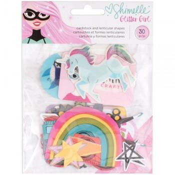 Glitter Girl ,girl,paper,scrapbooking,scrapbook,planner,diary,craft,cardmaking,party,snailmail