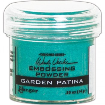 Garden Patina,embossingpowder,scrapbooking,cardmaking,calligraphy,brush,