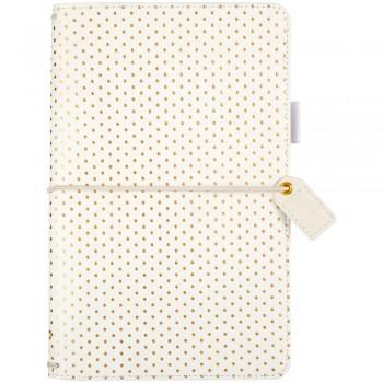 Gold Polka Dots,planner,traverler'snotebook,diary,travel,scrapbooking