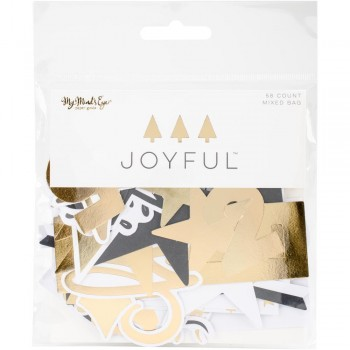 W/Gold Foil,scrapbook,christmas,album,diecut,papercraft,planner
