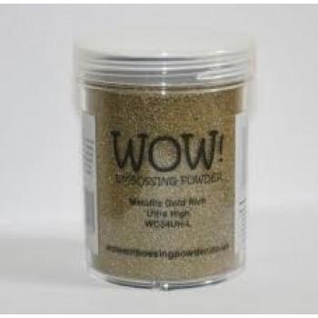 METALLIC GOLD RICH Ultra High Large Jar,embossing,snailmail,scrapbook,cardmaking