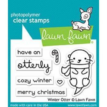 winter otter,stamp,winter,scrapbook