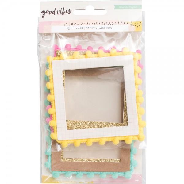 Mind Memory Good Vibes Pom Pom Frames Art & Craft Supplies